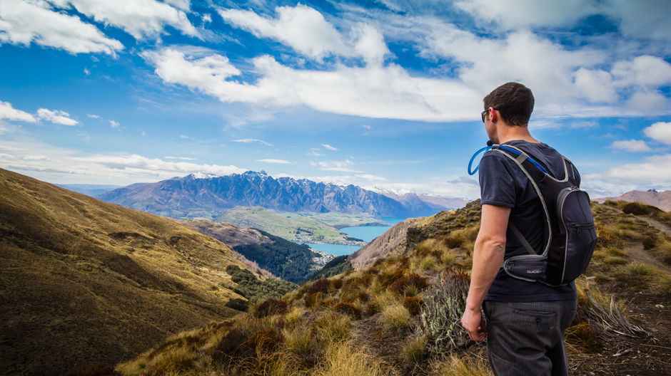 Views over Queenstown from the Ben Lomond Track by Destination Queenstown