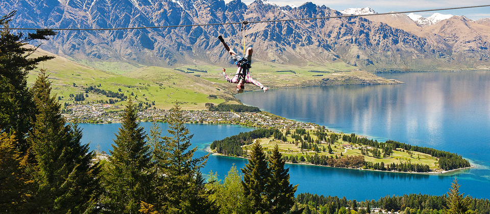 Zip lining in Queenstown offers adventurous fun for the whole family