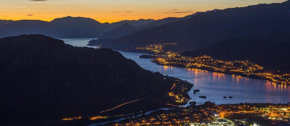 Queenstown night view