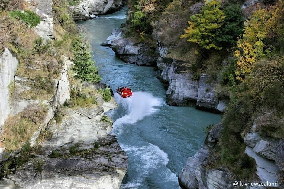 The Shotover Jet in Queenstown