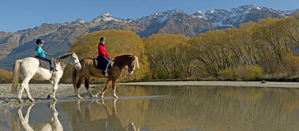 You'll love the peace and serenity of horse riding with Queenstown's landscapes laid out in front of you.