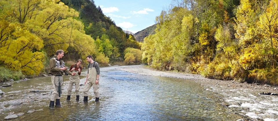 Fly-fishing in Arrowtown