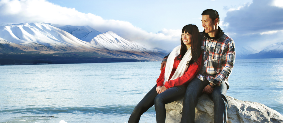 If your New Zealand holiday is also your honeymoon, you'll find many beautiful places to talk, walk and laugh together.