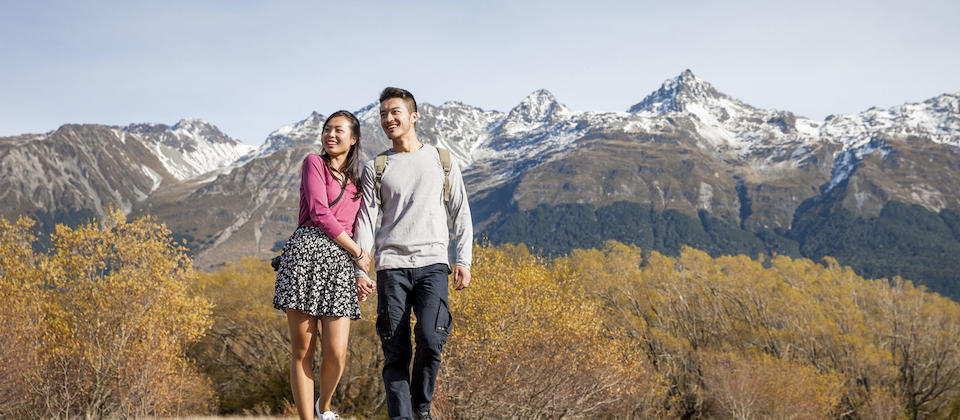 A romantic stroll in Glenorchy