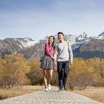 Glenorchy's grand scenery is likely to inspire a little romance.