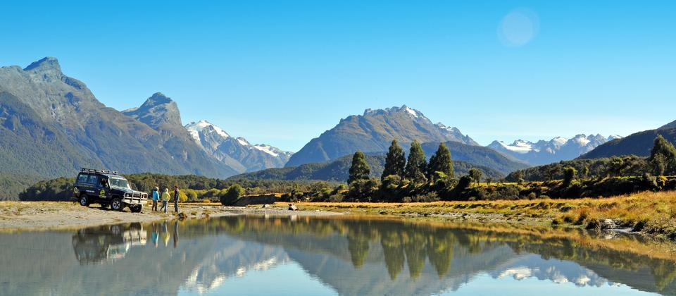 45 minutes from Queenstown is beautiful Glenorchy, set against a background of native beech forest and towering mountain ranges it is home to filming
