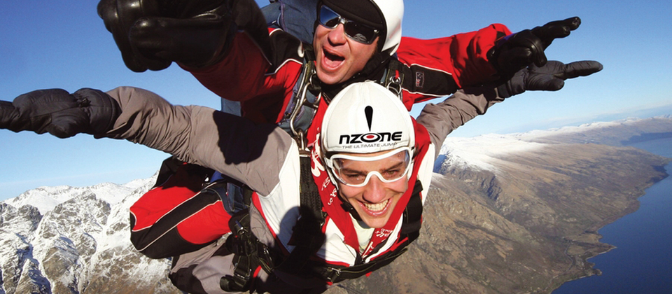 Skydiving over Queenstown will leave you grinning from ear-to-ear.