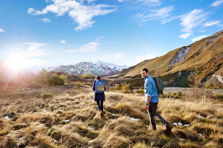 An outdoor hike is one of the best ways to enjoy the beautiful scenery of New Zealand up close.