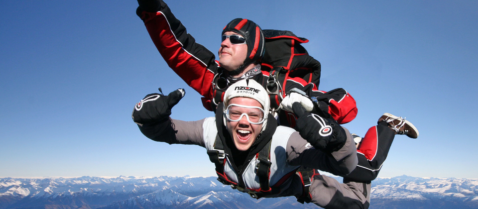 Skydiving is one of the most popular activities in Queenstown.