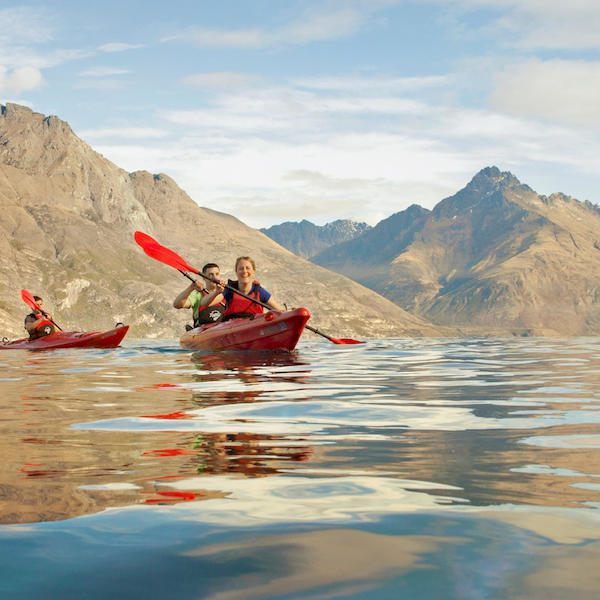 Summer paddle on Lake Wakatipu