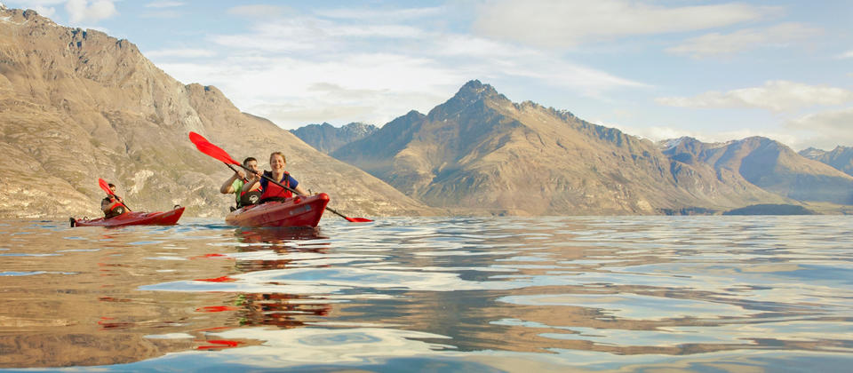 Enjoying a summer paddle on Lake Wakatipu