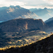 Mountain biking on Coronet Peak in Queenstown.