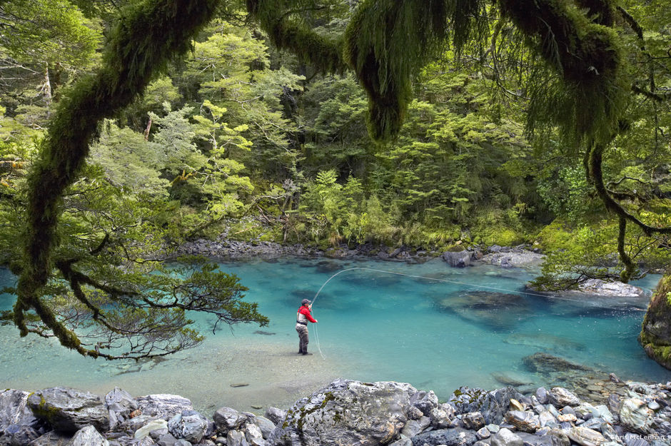 You'll catch some magnificent scenery while you angle for a trout in the Glenorchy region.