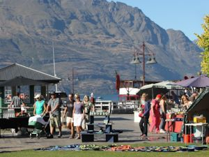A local market by Lake Wakatipu