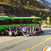 Backpacker bus in Queenstown