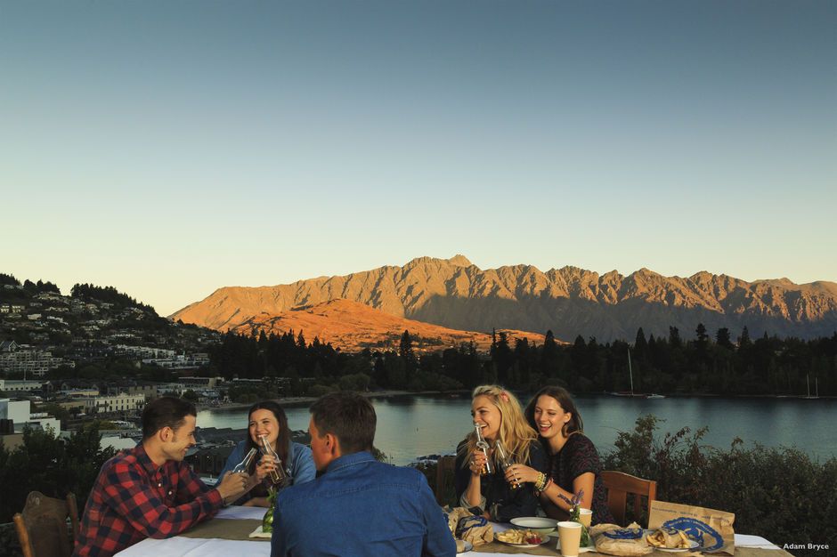 An evening in Queenstown with great friends and incredible views.