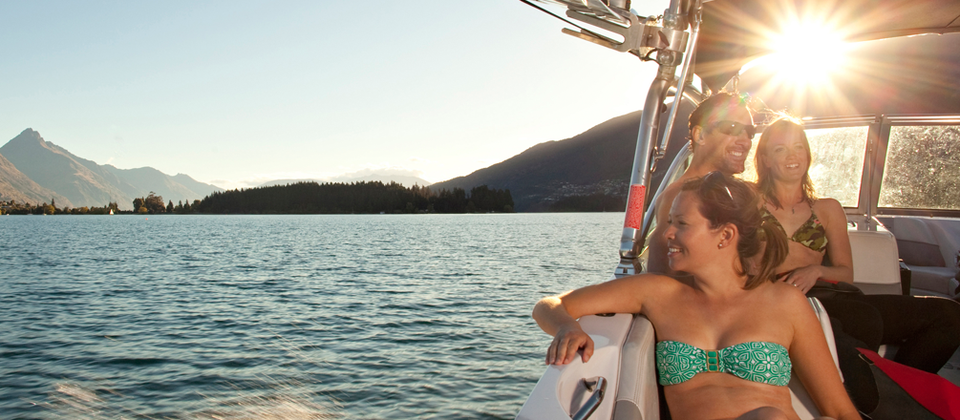 Summer on legendary Lake Wakatipu means sun, swimming and watersports