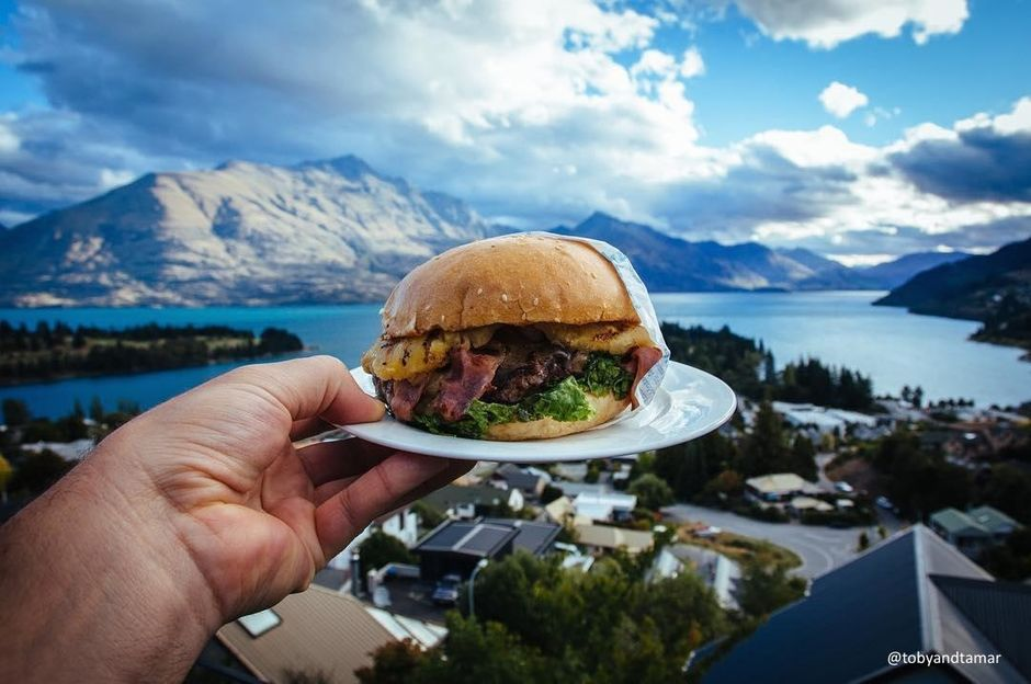Ferg Burger with a view.