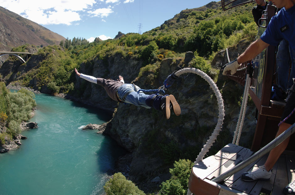 Get your adrenaline pumping on the Kawerau Bungy in Queenstown.