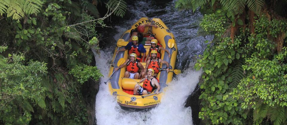Don't miss tackling Tutea Falls on the Kaituna River in Rotorua, the highest commercially rafted waterfall in the world! (23 feet)