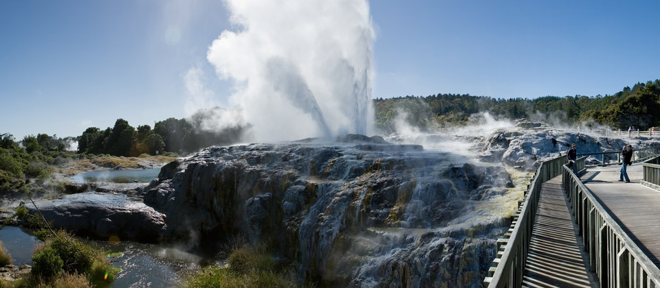 A geyser eruption at Te Puia