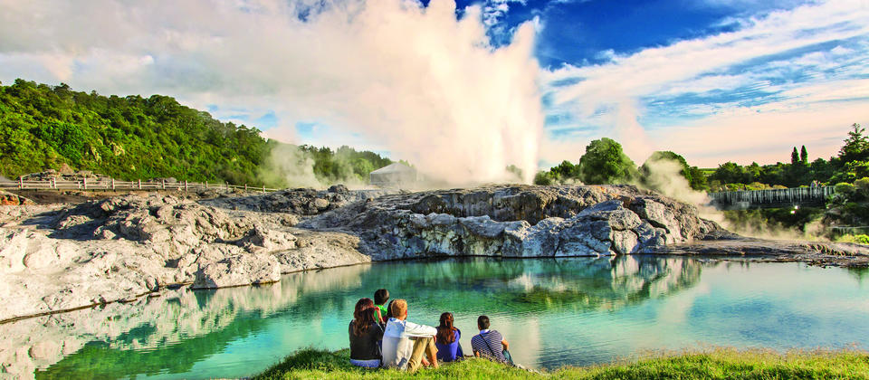 Take in the beauty of the Pohutu Geyser in  Te Puia - an exceptional experience.