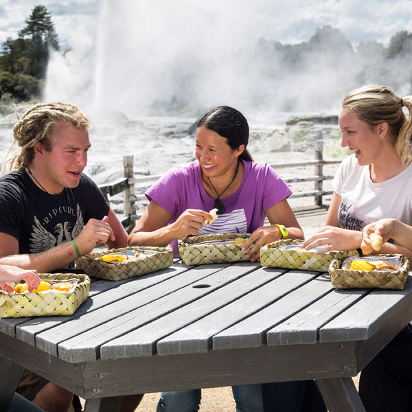 Traditional Māori dining with a twist at Te Puia
