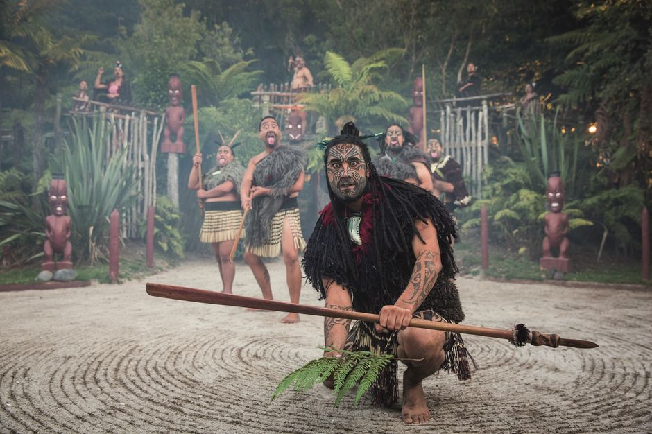 When visitors arrive at the outskirts of Tamaki Maori Village, nobody may enter the tribal grounds until the formal welcome is complete.