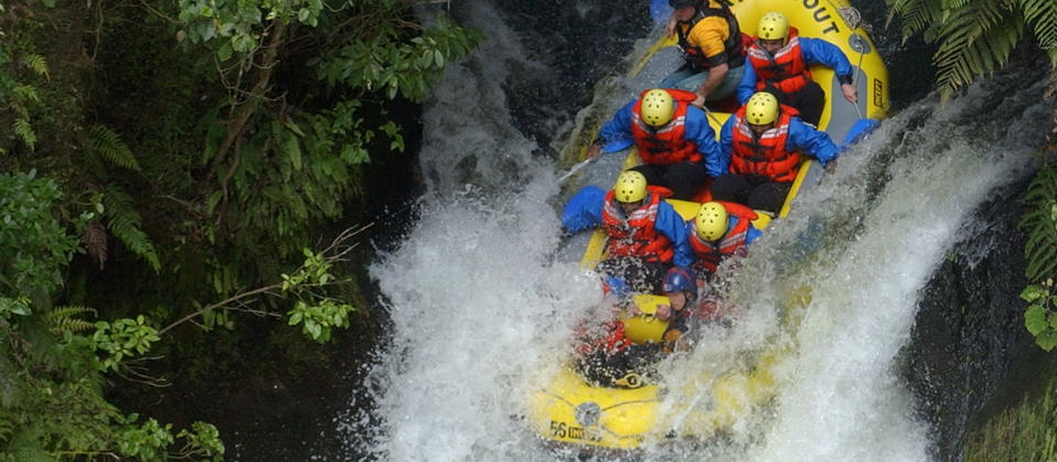 The Kaituna river is home to the worlds highest commercially rafted waterfall.