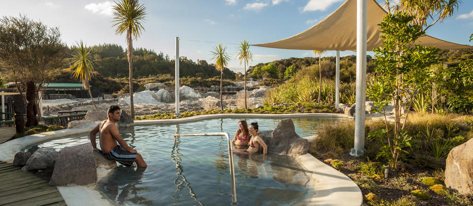 Make the most of Rotorua's geothermal magic with a soak in a natural hot pool.