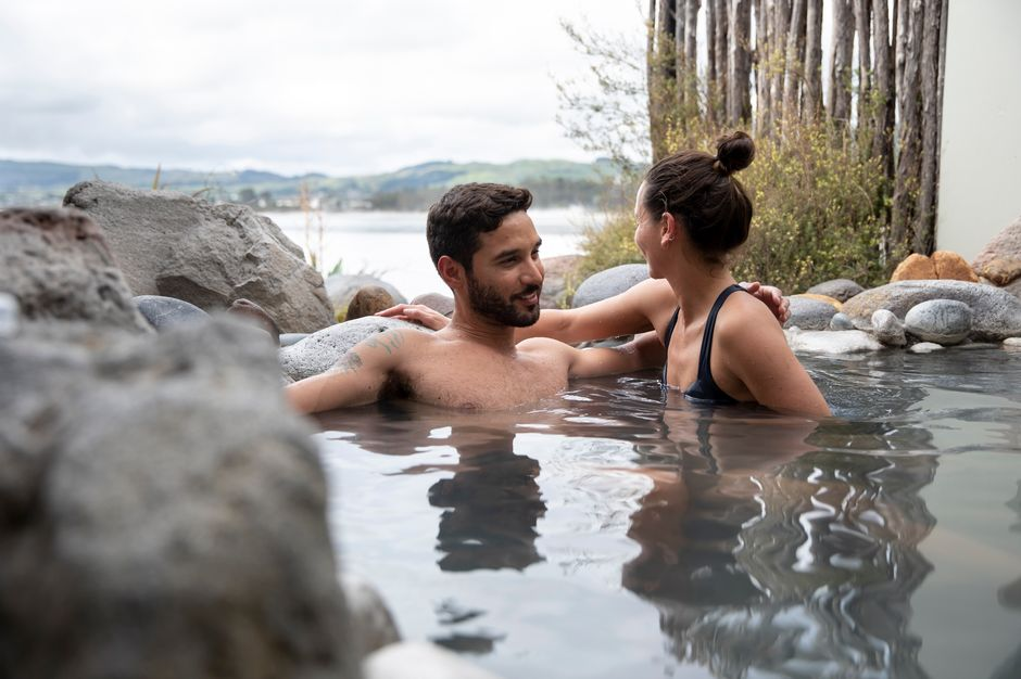 Soak in mineral hot pools