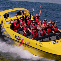 Take a spin in a jet boat on picturesque Lake Rotorua.