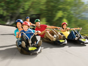 Family fun on the Luge in Rotorua