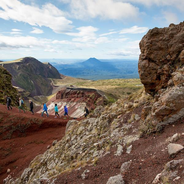 Guided walk on Mount Tarawera