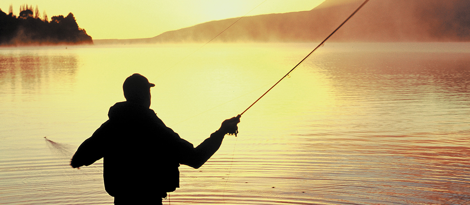 Rotorua's pristine lakes and waterways are teeming with trout and salmon.