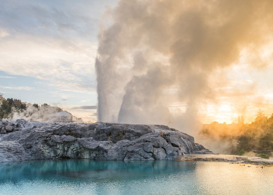 Witness the power of the Pohutu Geyser