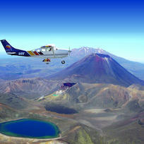 Flying over Tongariro National Park