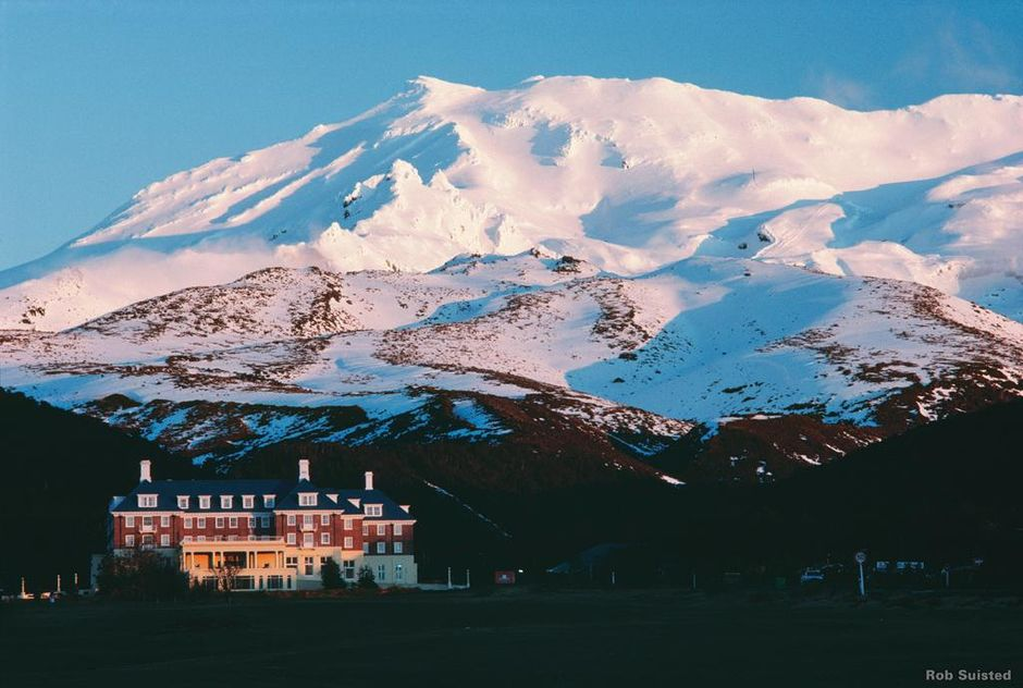 Bayview Chateau Tongariro lies in the foothills of huge Mount Ruapehu.
