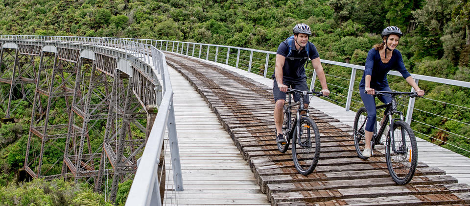 It takes only  about two and a half hours to cycle from Ohakune to Horopito via the amazing Hapuawhenua Viaduct.