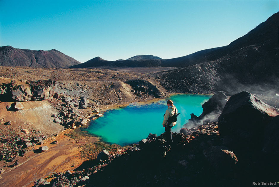 The Emerald Lakes of the Tongariro Crossing are spectacular.