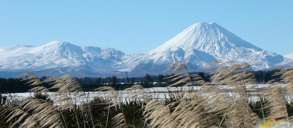 Mt Tongariro and Mt Ngauruhoe