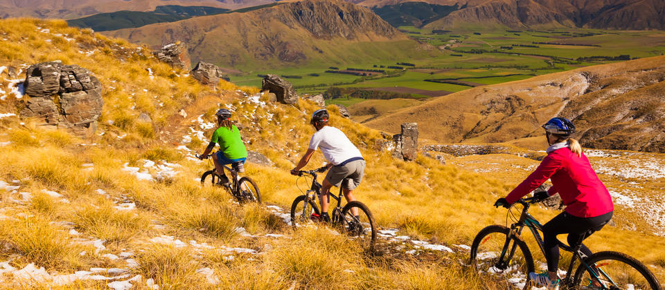 Cycling the Welcome Rock Trails, Northern Southland.