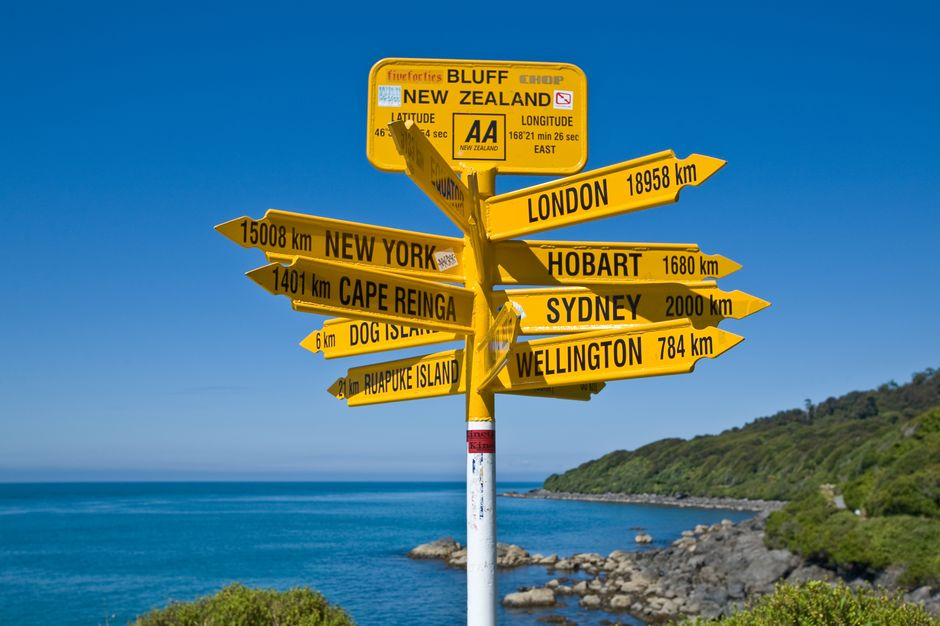 Head out to Stirling Point in Bluff and get your photograph taken with it's memorable world distance sign post.