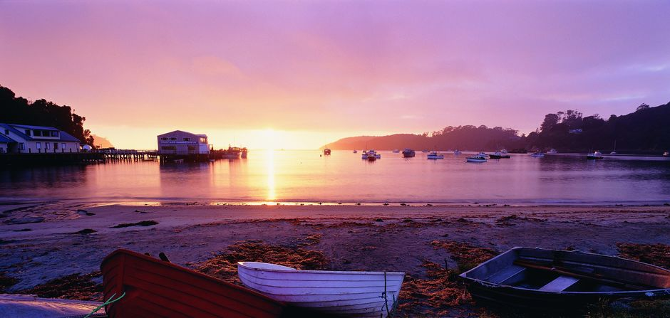 Halfmoon Bay (Oban) on Stewart Island