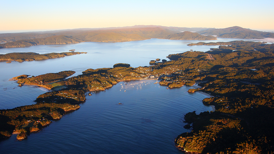 Stewart Island from the air