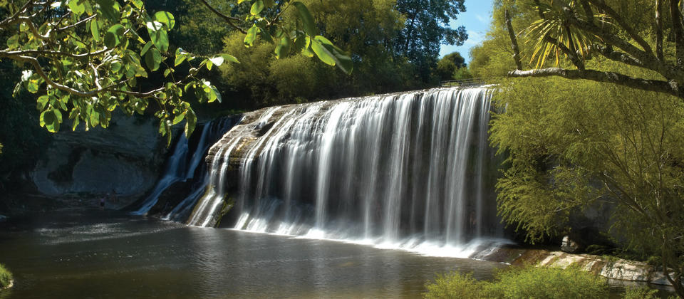 On a hot summer's day, Rere Falls near Gisborne is a scenic place for a picnic.