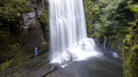 Waterfall in Lake Waikaremoana