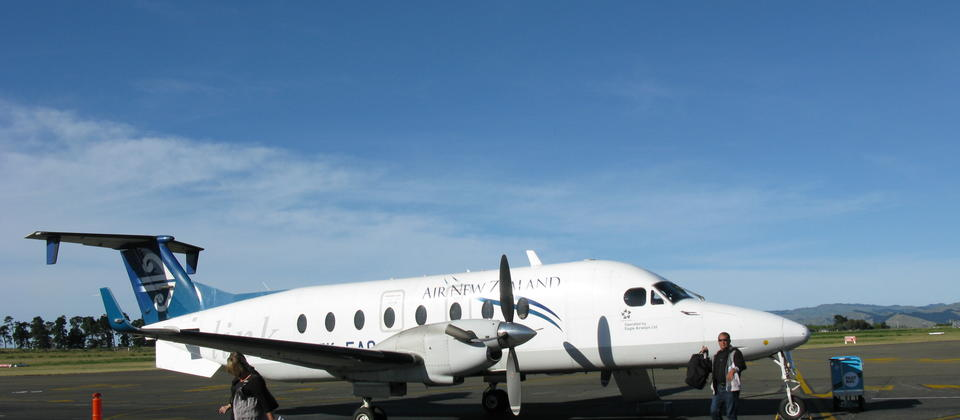 Various flights travel to and from Gisborne airport from all over the North Island.
