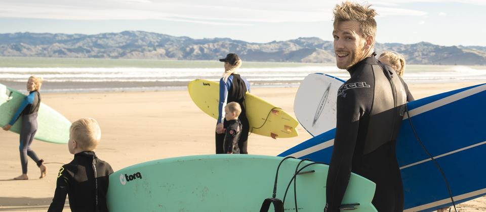 Whether you're a beginner or experienced, the coastline around Gisborne is known for its clean, reliable surf.