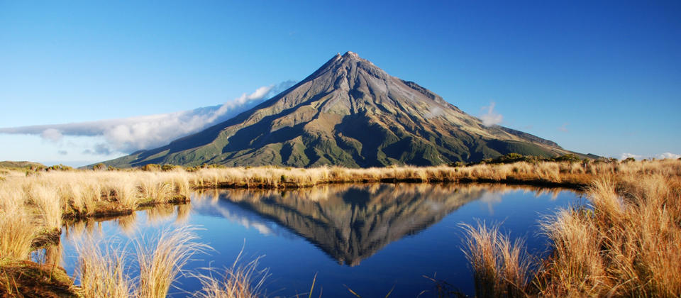 Mt Taranaki from the tarns